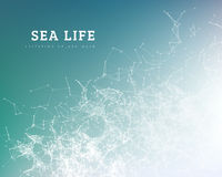 Sea wave by dot and line connection. Stock Images