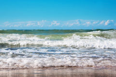 Sea wave with foam Stock Photography