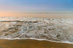 Sea wave with foam Stock Photo
