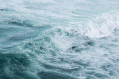 Sea wave with foam. Royalty Free Stock Photos