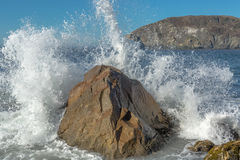 Sea Wave Hiting Rock Stock Image