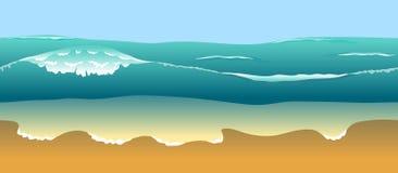 Sea wave on the horizon Stock Photo