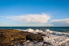Sea wave in Ireland Royalty Free Stock Photos