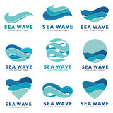 Sea wave logo set. Vector concept Royalty Free Stock Images