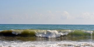 Sea wave rolled ashore Stock Image
