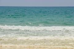 Sea wave on the sand beach. Landscape of sea wave on the sand beach stock photo