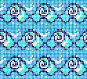 Sea wave. Seamless mosaic pattern. Geometric pattern in a square Royalty Free Stock Photography