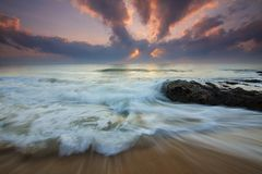 Sea, Wave, Sky, Ocean Royalty Free Stock Photography