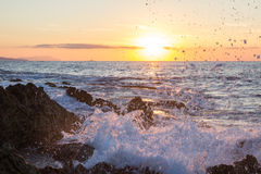 Sea wave splash Stock Photography