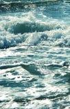 Sea wave splashing water.Blue blue photo. stock photos