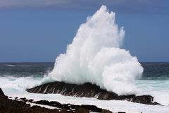 Sea Wave Spray Royalty Free Stock Photography