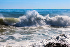 Sea wave during storm Royalty Free Stock Photos