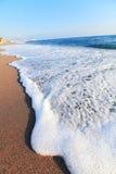 Sea wave on summer beach. Travel Stock Image