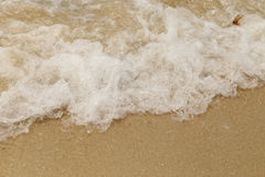Sea wave swash on sand beach Stock Images