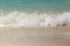 Sea wave swash on sand beach.  Royalty Free Stock Photos