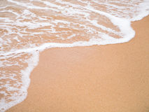 Sea wave to the shore background Stock Photos