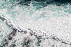 Sea wave. From top view Stock Image