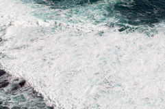 Sea wave. From top view Royalty Free Stock Photo
