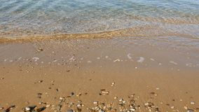 Sea wave on water edge stock video footage