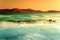 Sea waves. Choppy aegian sea, kos island Stock Photo