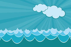 Sea Waves. Graphic illustration of Sea Waves vector illustration