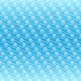 Sea waves. Seamless blue pattern with sea waves Stock Photo