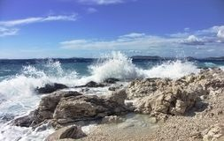 Sea with waves Royalty Free Stock Photography