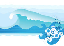 Sea waves. Abstract sea waves. Vector illustration Royalty Free Stock Images