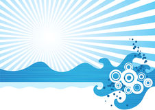 Sea waves. Abstract sea waves. Vector illustration Stock Images