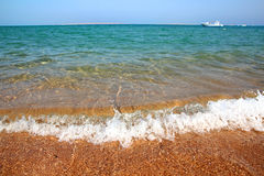 Free Sea Waves And Gold Sand Beach Royalty Free Stock Photography - 17380887