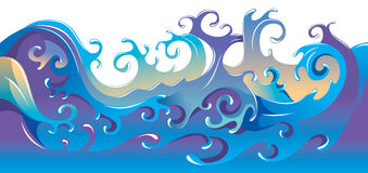 Sea waves background Royalty Free Stock Images