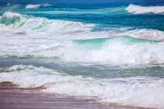 Sea Waves Background - beautiful colors of Summer Royalty Free Stock Photography