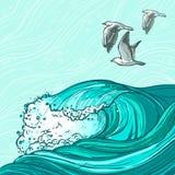Sea waves background Royalty Free Stock Image