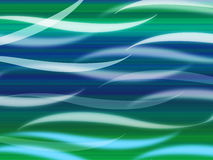 Sea Waves Background Means Curvy Light Ripples Stock Photo