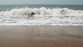 Sea waves on the beach. Beautiful sea waves on the beach stock video