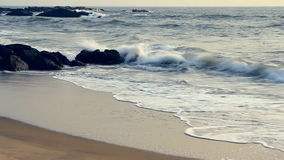 Sea waves on the beach. Beautiful sea waves on the beach stock footage