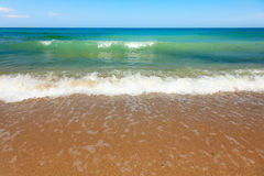 Sea waves at he beach Royalty Free Stock Image