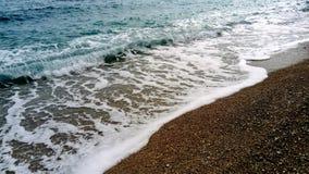 Sea waves on the beach royalty free stock photos
