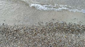 Sea waves on the beach. Close up seashore stock video footage