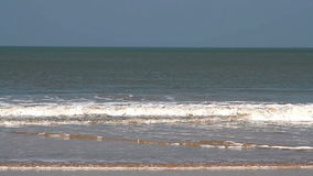 Sea waves on the beach in Goa stock footage