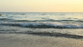 Sea waves at beach stock video footage