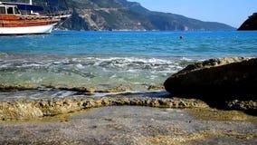 Sea waves on the beach. In Turkey-Oludeniz stock video footage