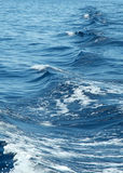 Sea. Waves in the sea behind the ship Stock Photo