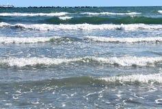 Sea waves 3. Sea waves in Black Sea Stock Photos