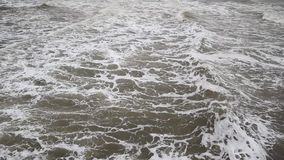 Sea waves in Blackpool Beach, Lancashire, England. Sea waves in Blackpool Beach in England, United Kingdom stock video