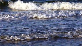 Sea waves closeup stock video footage