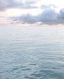 Sea with waves and cloudy sky Stock Photography