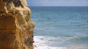 Sea waves at the coast stock video footage