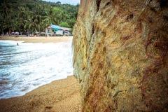 Sea waves crashing against the rocks, Koh Samui Stock Photos