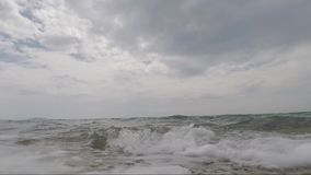 Sea Waves Crashing To beach. Sea Waves Crashing To Camera holiday amazing sunny day time to enjeot stock video